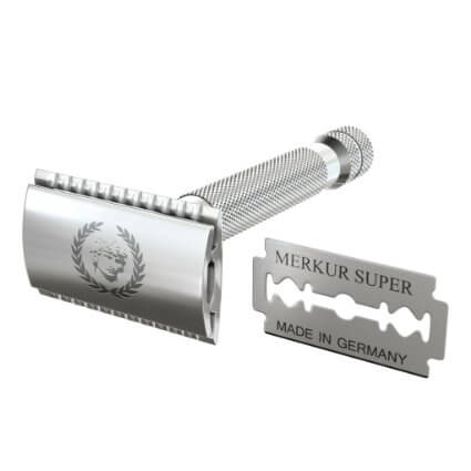 Double-Edge-Safety-Razor-By-Apollo-&-1-Merkur-Platinum-Coated-Double-Edge-Blade-Will-Fit-in-Your-Safety-Razor-View2